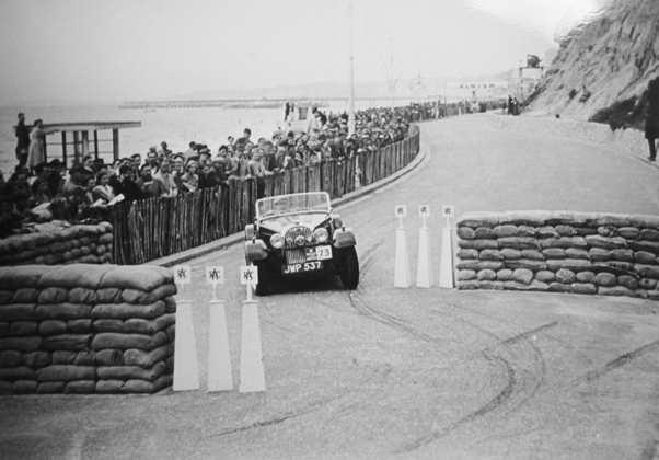 Dr W Steel on the 1951 RAC Rally