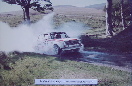 Geoff Wooldridge winning the class on the 1976 Manx International