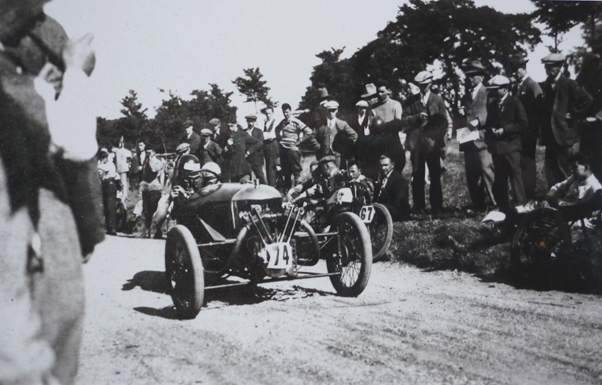 Cecil Jay on the start of Worcestershire Motor Club Madresfield Speed Trial 1928